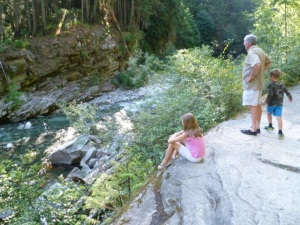 Watching a fly fisherman in the river